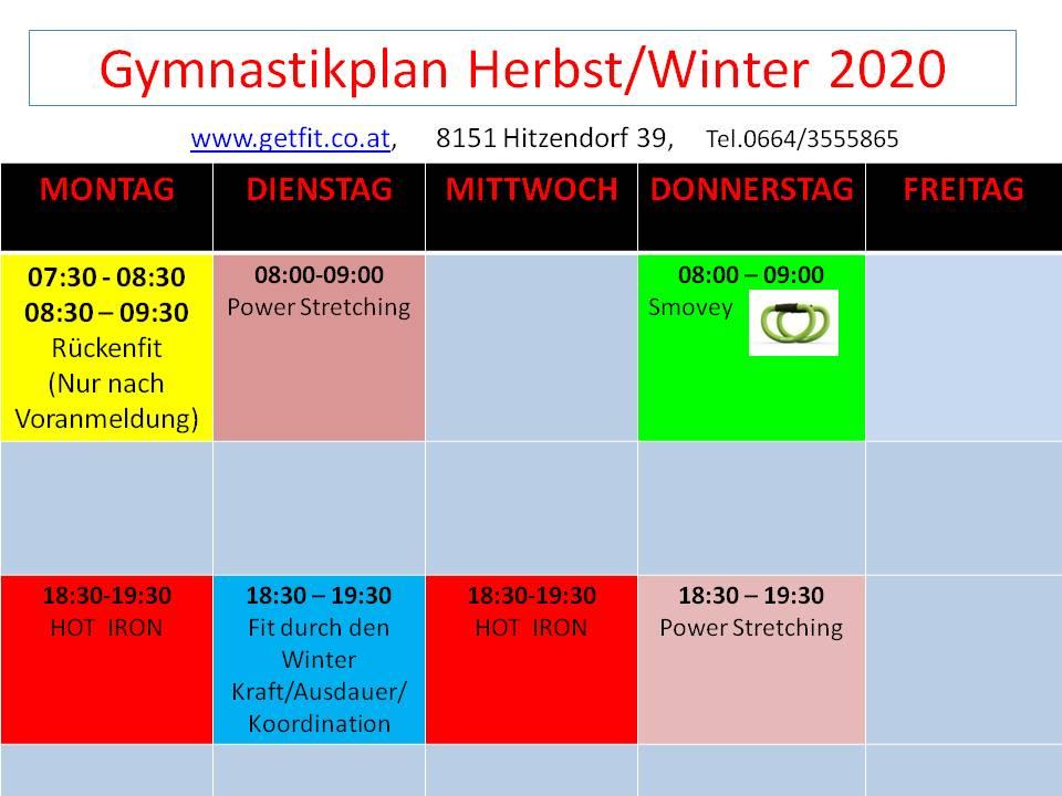 Gymnastikplan 2020/2021